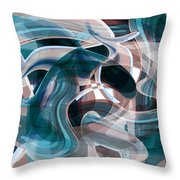 Diving Into Your Ocean 3 Throw Pillow by Angelina Vick