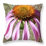 Divinity Gold - Echinacea Throw Pillow