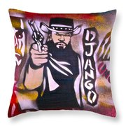 Django Blood Red Throw Pillow