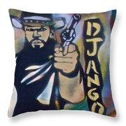 Django Three Faces Throw Pillow