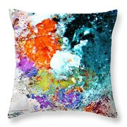 Djinn Blows ... Dove Floating In The Wind Throw Pillow