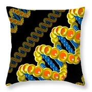 Dna Strand - Dna Strands Art - Genetics Genetic - Gene Genes - Conceptual - Abstract Illustration Throw Pillow