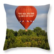 Do All To The Glory Of God Balloon Throw Pillow