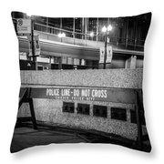 Do Not Cross Throw Pillow