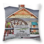 Do Not Feed The Gators Throw Pillow