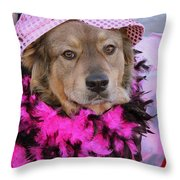 Do You Like My Pink Hat Throw Pillow