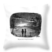 Do You Want To Stay For The Credits? Throw Pillow