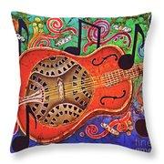 Dobro-slide Guitar-2 Throw Pillow