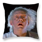 Doc Brown Throw Pillow