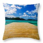 Dock And Beautiful Water Throw Pillow