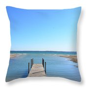 Dock And Traverse Bay Throw Pillow