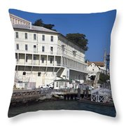 Dock At Alcatraz Island Throw Pillow