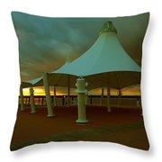 Dock At National Harbor Throw Pillow