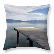 Dock Glowing In The Sunlight Throw Pillow
