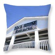 Dock House Restaurant Throw Pillow