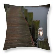 Dock Light Throw Pillow