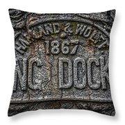 Dock Marker Throw Pillow