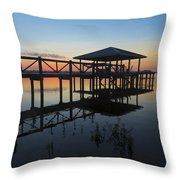 Dock On The Bay Throw Pillow