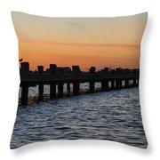 Dock Side Throw Pillow