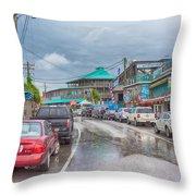 Dock Street - Cedar Key Throw Pillow