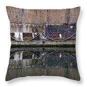 Dock Wall Throw Pillow by Mark Rogan