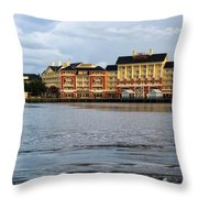 Docked At The Boardwalk Walt Disney World Throw Pillow
