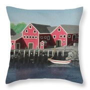 Docked - Original Sold Throw Pillow