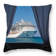 Docked In My Dreams Throw Pillow