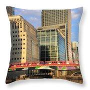 Docklands London Throw Pillow