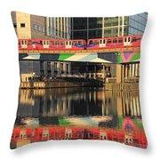 Docklands Railway London Throw Pillow
