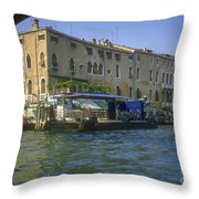 Docks On The Grand Canal Throw Pillow