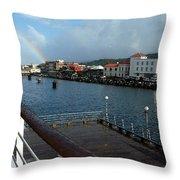 Dockside Rainbow  Throw Pillow
