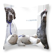 Doctor And Nurses Throw Pillow
