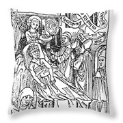 Doctor And Patient, 1509 Throw Pillow