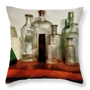 Doctor - Medicine Bottles Tall And Short Throw Pillow