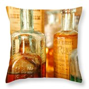 Doctor - Remedies For Hoarseness  Throw Pillow
