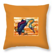 Doctor Vultura Throw Pillow by Kelly Jade King