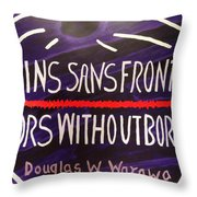 Doctors Without Boarders Throw Pillow