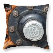 Dodge Brothers Hubcap And Spokes Throw Pillow