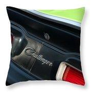 Dodge Challenger 440 Magnum Rt Taillight Emblem Throw Pillow by Jill Reger