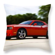 Dodge Challenger Throw Pillow