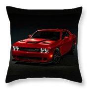 Dodge Challenger S R T Hellcat Throw Pillow
