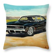 Dodge Charger Rt 1970 Throw Pillow