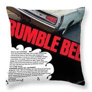 Dodge Coronet Super Bee - Rumble Bee Throw Pillow