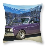 Dodge- Mountain Background Throw Pillow