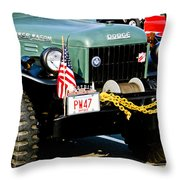 Dodge Power Wagon Front End Throw Pillow