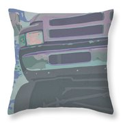 Dodge Ram With Decreased Color Value Throw Pillow
