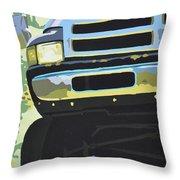 Dodge Ram With Green Hue Throw Pillow