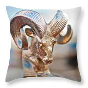 Dodge Ram Hood Ornament 3 Throw Pillow