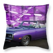 Dodge Rt Purple Abstract Background Throw Pillow